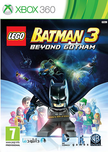 LEGO Batman 3 Beyond Gotham xbox360 cover small دانلود بازی LEGO Batman 3 Beyond Gotham برای XBOX360